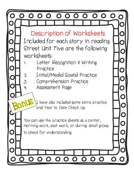 Reading Street Kindergarten Assessment and Review Pack Unit 5