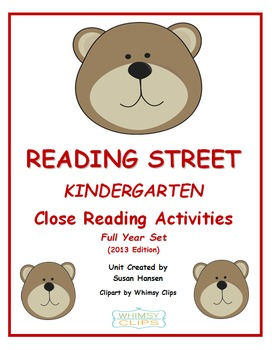 Reading Street Kindergarten Close Reading Activities