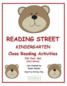 Reading Street Kindergarten Close Reading Activities