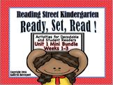 Reading Street Kindergarten Decodable Readers Mini Bundle Unit 1 Weeks 1-3