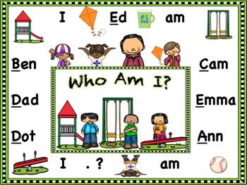 Reading Street Kindergarten Decodable Readers  Ready, Set, Read Unit 1 Week 1