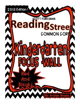 Reading Street Kindergarten Focus Wall MEGA pack! (Red and Black)