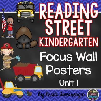 Reading Street Kindergarten Focus Wall Unit 1