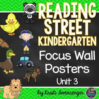 Reading Street Kindergarten Focus Wall Unit 3