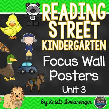 Reading Street Kindergarten Focus Wall Unit 3