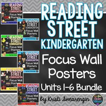 Reading Street Kindergarten Focus Wall Units 1-6 Bundle