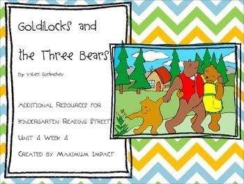 "Reading Street Kindergarten ""Goldilocks and the Three Bears"" Resources"