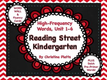 Reading Street Kindergarten High-Frequency Word Cards