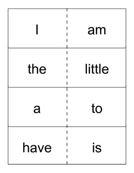 Reading Street- Kindergarten High Frequency Word Cards