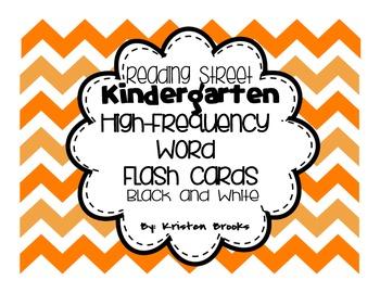 Reading Street Kindergarten High Frequency Word Flash Cards