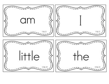 Reading Street Kindergarten High Frequency Words