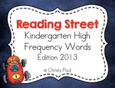 Reading Street Kindergarten High Frequency Words