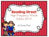 Reading Street Kindergarten High Frequency Words Red Background