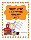 Reading Street Kindergarten Homework Unit 1 Pack