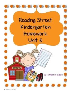 Reading Street Kindergarten Homework Unit 6
