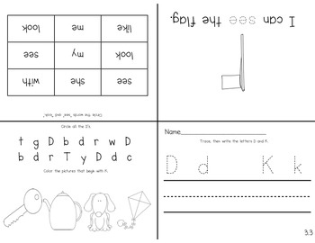 Reading Street Kindergarten Intervention (letters, sounds and sight word review)