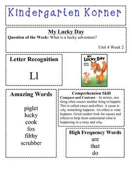 Reading Street Kindergarten Korner for Unit 4