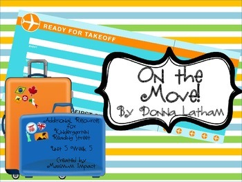 "Reading Street Kindergarten ""On the Move!"" Resources"