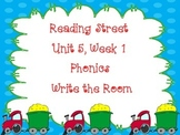 Write the Room Phonics Kindergarten - Aligned with Reading Street Unit 5 Week 1