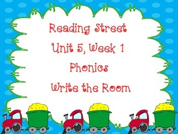 Write the Room Phonics Kindergarten - Aligned with Reading Street Unit 5 Week 1