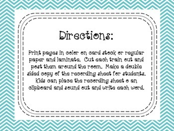 Write the Room Phonics Kindergarten - Unit 5 Week 4