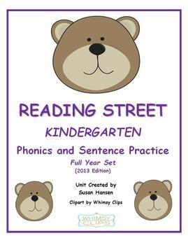 Reading Street Kindergarten Phonics and Sentence Practice