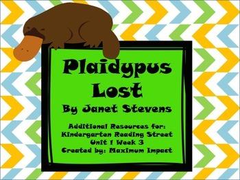 """Reading Street Kindergarten """"Plaidypus Lost"""" Resources"""