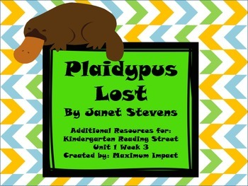 "Reading Street Kindergarten ""Plaidypus Lost"" Resources"