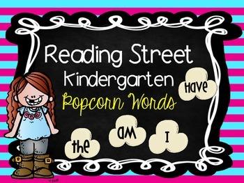 Reading Street Kindergarten Popcorn Words