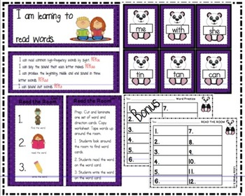 Reading Street Kindergarten Read the Room Unit 3