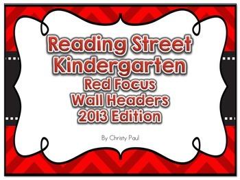Reading Street Kindergarten Red Focus Wall Headers