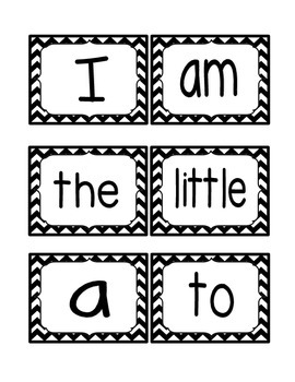 Reading Street Kindergarten Sight Word Bundle CHEVRON (2013 Common Core Edition)