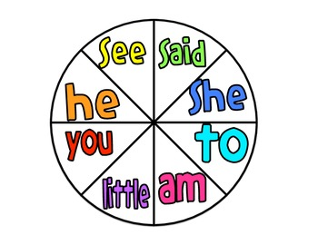 Reading Street Kindergarten Sight Word Spinners