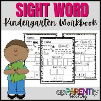 Kindergarten Reading Street Sight Word Workbook- NO PREP