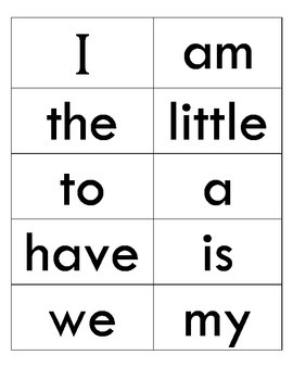 Reading Street Kindergarten Sight Words