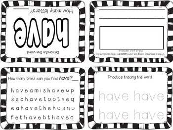 Kindergarten Sight Words Foldable Books - Aligned to Reading Street Unit 2