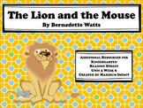 "Reading Street Kindergarten ""The Lion and the Mouse"" Resources"