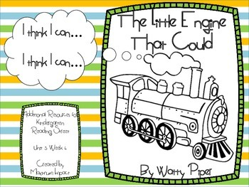 """Reading Street Kindergarten """"The Little Engine That Could"""" Resources"""