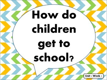"""Reading Street Kindergarten """"The Little School Bus"""" Resources"""