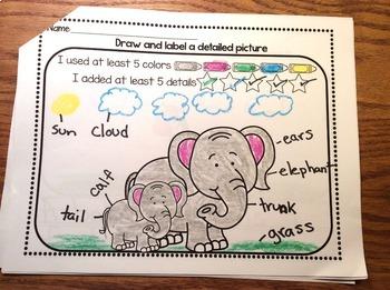 RS SideKick Kindergarten Unit 2  Baby animals correlating journal