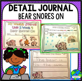 RS Sidekick Kindergarten Unit 2 Snoring Bear correlating journal