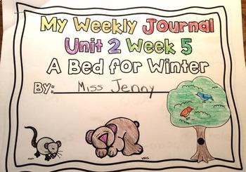 RS SideKick Kindergarten Unit 2  A Winter Bed correlating journal