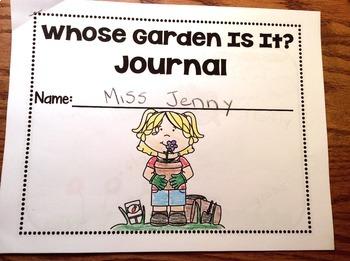 RS Sidekick Kindergarten Unit 2  Whose Garden? correlating JOURNAL