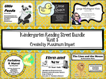 Reading Street Kindergarten Unit 3 Bundle of Resources