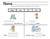 Reading Street, Kindergarten, Unit 3 Sight Words Weeks 5-6