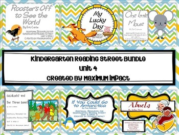 Reading Street Kindergarten Unit 4 Bundle Resources