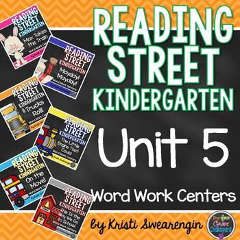 Reading Street Kindergarten Unit 5 Centers Bundle