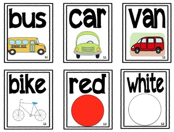 Reading Street Kindergarten Vocabulary Cards with Pictures
