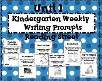 Reading Street Kindergarten Weekly Writing Prompts Unit 1
