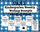Reading Street Kindergarten Weekly Writing Prompts Unit 2